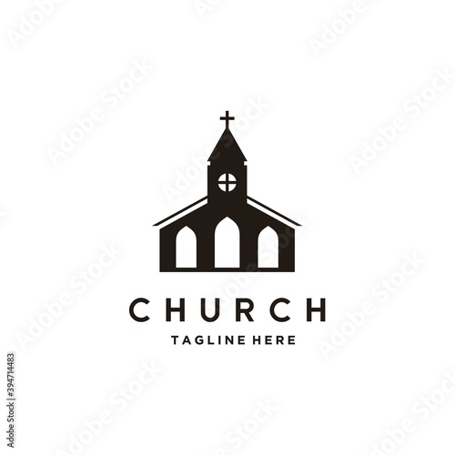 Valokuva Church building architecture logo design