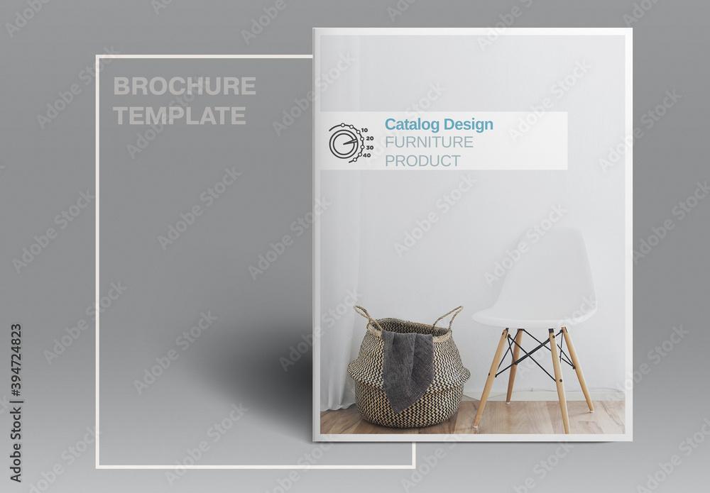Fototapeta Furniture Catalog Layout