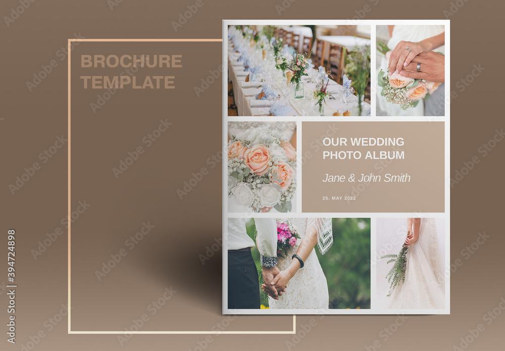 Fototapeta Wedding Studio Brochure Layout