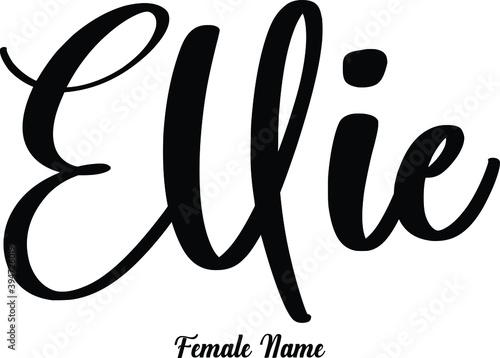 Fotografie, Obraz Ellie-Female Name Cursive Calligraphy Phrase on White Background