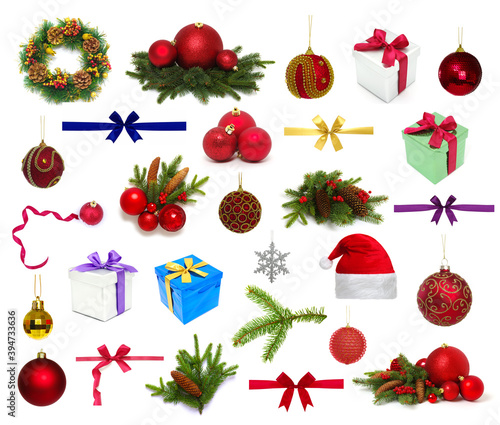 Christmas collection  isolated on a white background