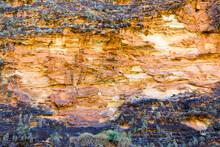 Detail Shot Of Rock Cliff Face...
