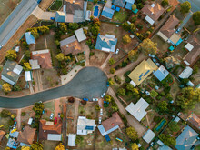 Town Houses In Coolamon At The End Of A Cul-de-sac From Above