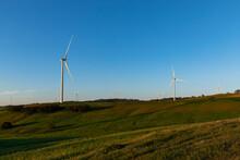 Wind Turbines On Hilltops Agai...