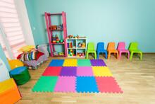 The Bright Play Area For Preschool Children