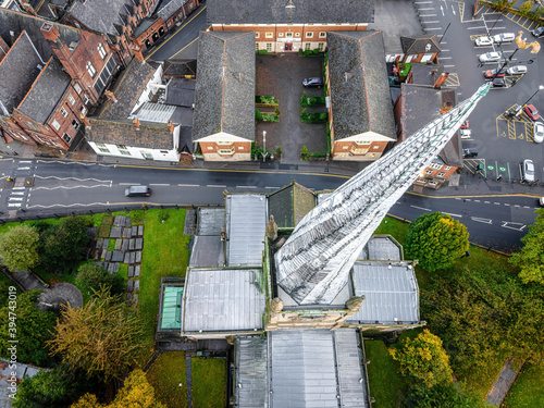 Fototapeta The crooked spire of the Church of St Mary and All Saints in Chesterfield obraz