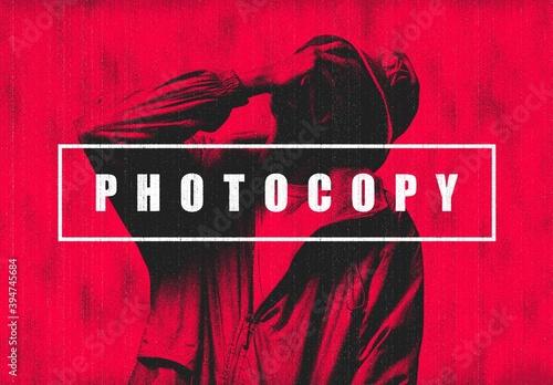 Bad Photocopy Photo Effect Mockup