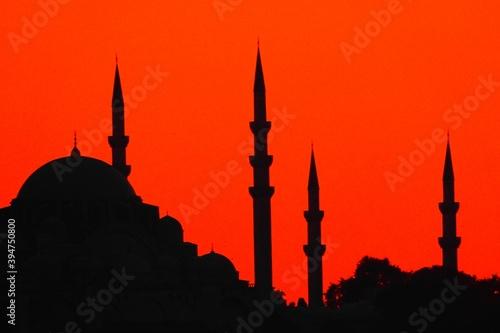 Fotografering mosque silhouette