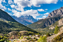 Landscape Of The French Alps, Sainte Marguerite In The Provence Alpes, France