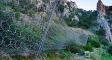 Robust Rockfall Barrier Along The Panoramic Road Of Buggerru, South Sardinia
