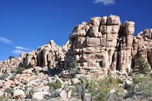 Massive And Beautiful Rock Formations Are Found In Joshua Tree National Park In Southern California.