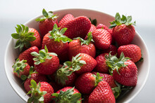 Bowl Full Of Fragaria, Commonl...