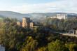 VELIKO TARNOVO, BULGARIA -NOVEMBER 2, 2020: Amazing Sunrise view of city of Veliko Tarnovo, Bulgaria