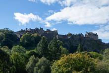 Edinburgh Castle View From Princes Street, Edinburgh, Scotland