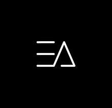 Letter EA Alphabet Logo Design Vector. The Initials Of The Letter E And A Logo Design In A Minimal Style Are Suitable For An Abbreviated Name Logo.