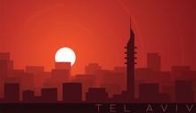 Tel Aviv Low Sun Skyline Scene
