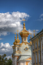 Peterhof Palace Against Sky In City