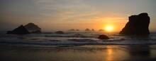 Pretty Sunset At The Oregon Coast