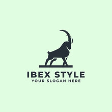 Strong Mountain Goat Or Ibex Logo Mascot