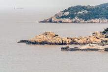 Rocks At The Seaside At The Putuoshan Mountains, Zhoushan Islands,  A Renowned Site In Chinese Bodhimanda Of The Bodhisattva Avalokitesvara (Guanyin)