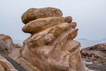 Rocks And Beach In The Putuoshan, Zhoushan Islands,  A Renowned Site In Chinese Bodhimanda Of The Bodhisattva Avalokitesvara (Guanyin)