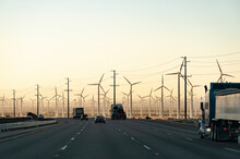 Huge Wind Farm In Palm Desert California