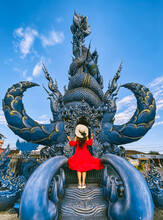 Wat Rong Suea Ten, The Blue Temple In Chiang Rai, Chiang Mai Province, Thailand