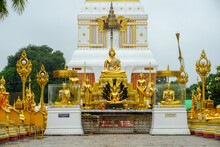 Beautiful Landscape Of Ancient  Temple In Wat Phra That Phanom, Nakhon Phanom,Thailand