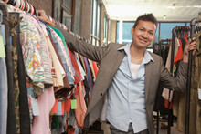 Malaysian Man Shopping In Vintage Store