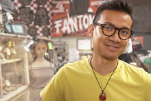 Malaysian Man In Vintage Store