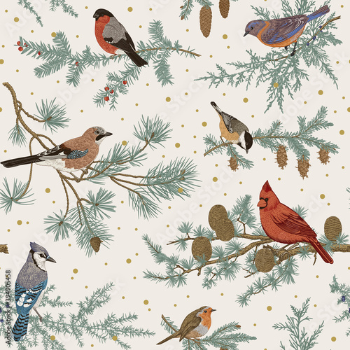 Canvas-taulu Vintage vector seamless pattern