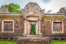 Place Of Ritual In Prasat Hin Phanom Rung, Large, Located On A High Mountain In The Middle Of A Deep Forest Built In The Ancient Khmer Period In Buriram, Thailand.