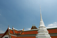 Ornate Roof Of Wat Pho Buddist Temple In Bangkok