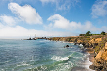 Pigeon Point Lighthouse On A C...