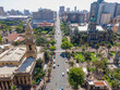 canvas print picture - Durban, South Africa, City, Africa, City Centre, cars, buildings, city, Roads, People, Buildings, architecture, business, landscape, bus, panoramic, KwaZulu Natal, Tourism, Trees, Freedom, Peace, Sky