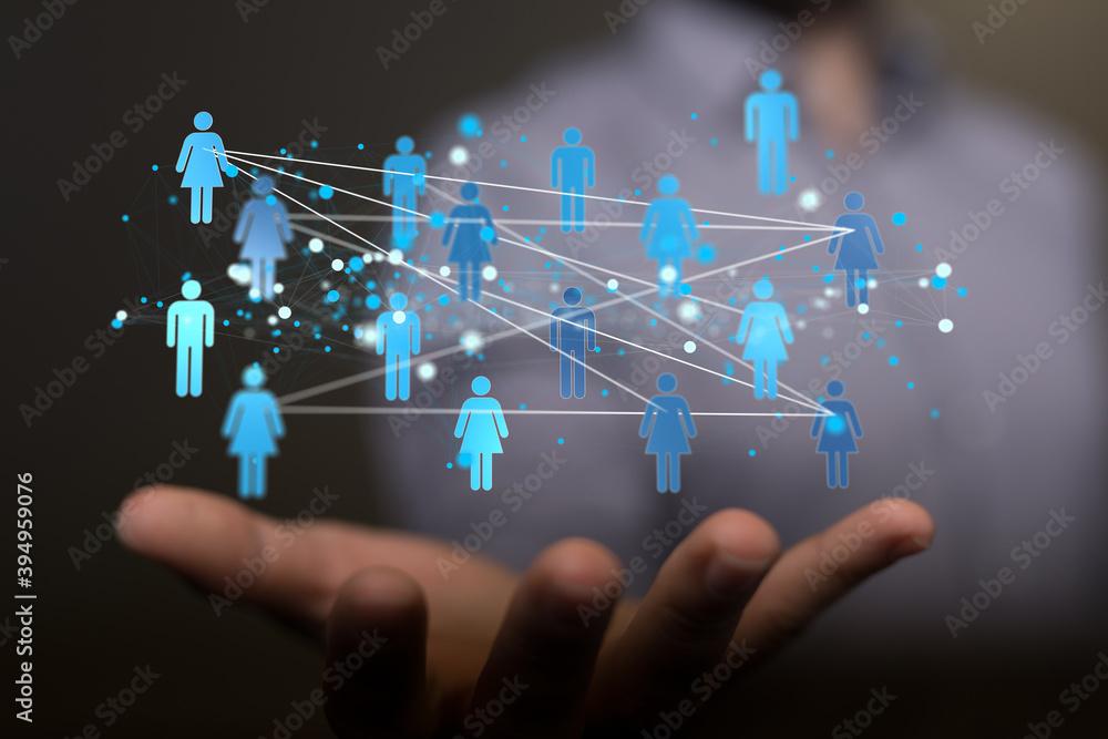 Fototapeta organization chart team concept networking