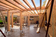 Construction Site Of A Wooden ...