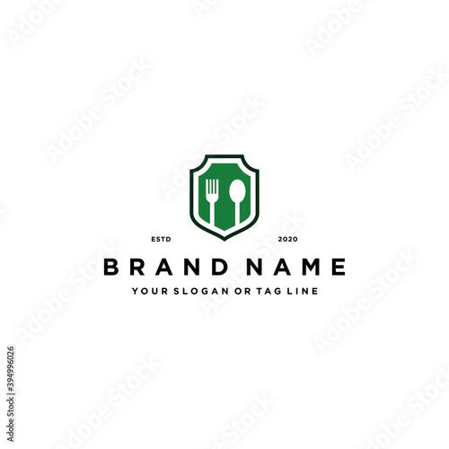 Fototapety, obrazy: food shield logo design vector