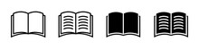 Book Icon. Vector Isolated Book Sign Collection. Simple Book Symbol.