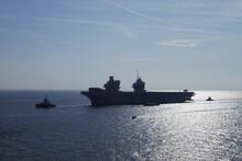 Silhouette Ship Sailing On Sea Against Sky