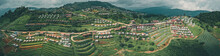 Aerial View Of Camping Grounds And Tents On Doi Mon Cham Mountain In Mae Rim, Chiang Mai Province, Thailand