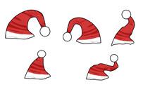 Festive Saint Nick Nicklaus Santa Claus Christmas Hat Cap Set Of 5