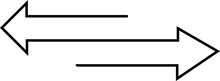 Double Arrow Vector Pointing In Both Directiions