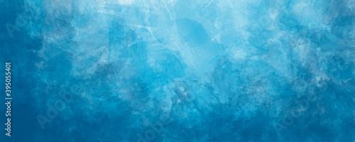Fotografie, Obraz Sfondo blu acquerello con trama nuvolosa e grunge marmorizzato, nebbia morbida e illuminazione nebulosa e colori pastello