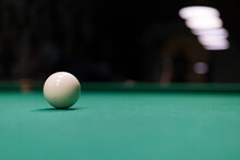 Background Of Russian Billiards With Selective Focus