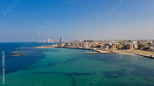 Capital of Libya, Tripoli seafront skyline view