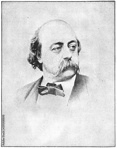 Fototapeta Portrait of Gustave Flaubert - a French novelist