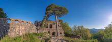 Heiligenstein, France - 09 01 2020: View Of The Ruins Of The Landsberg Castle