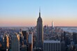 Empire State Building Against Sky During Sunset In City
