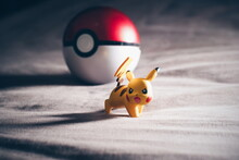 Close-up Of Pikachu With Pokeball